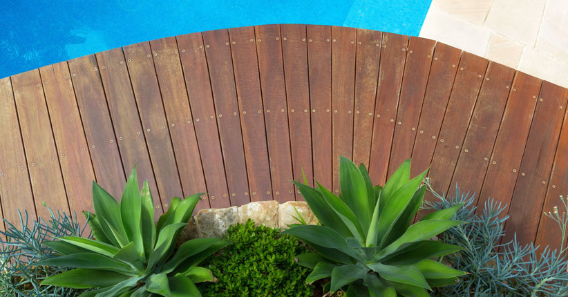 agave pool decking crystal clear water