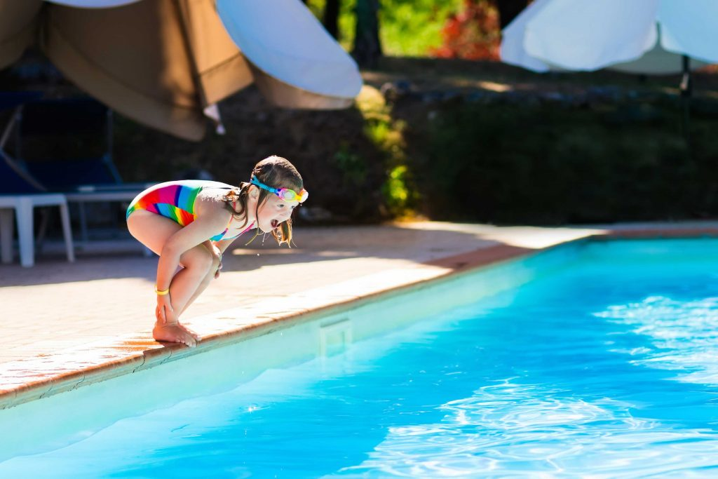 Kid kids pool activities summer holidays parenting
