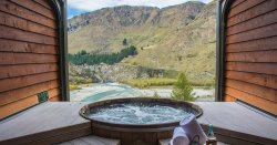 new zealand onsen travel inspiration view vista skiing scenery queenstown spa relax detox